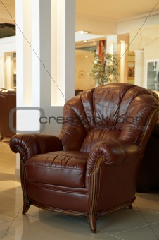 Beautiful leather armchair