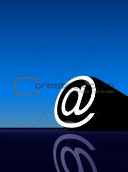 3D @ symbol