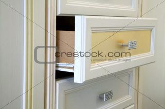 Modern white cabinet