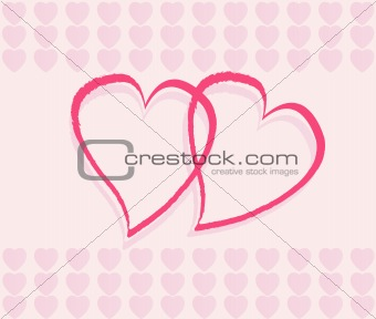 Romantic background, vector illustration