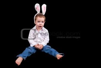 Boy with bunny ears
