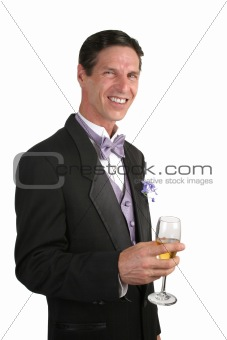 Man In Tuxedo With Champagne 1