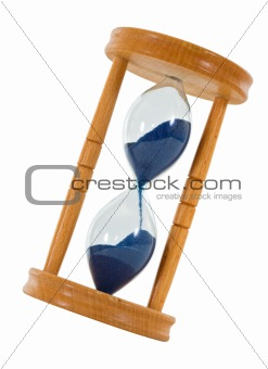 Tilted hourglass - isolated