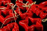 Christmas red ceramics decorations