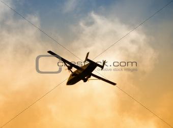 Airplane departing