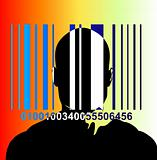 Barcode And Man