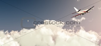 Plane Flying In Daylight