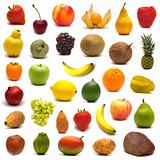 large page of fruits on white background 2