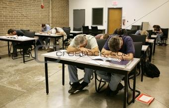 Adult Ed - Asleep in Class