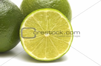 lime on white background