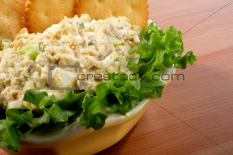 Bowl of tuna fish salad