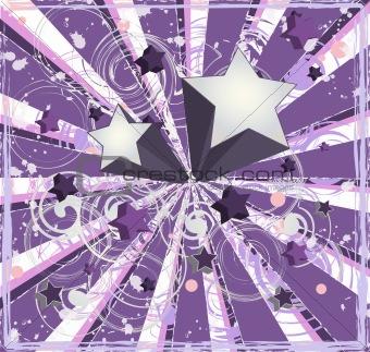 Purple Shooting Stars Background