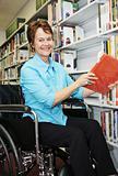 Librarian in Wheelchair