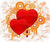 Heart. Grunge vector