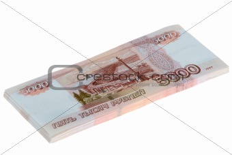 Five Thousand Roubles Bills Stacked