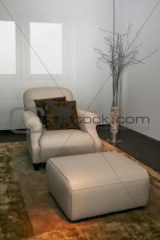 Armchair leg rest