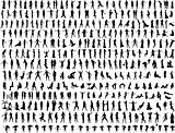 Hundreds of People Silhouettes 2 (Vectors)