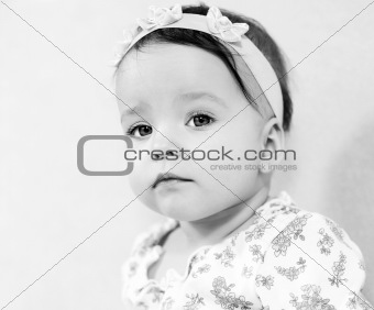 Portrait of cute baby