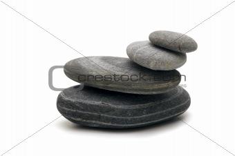 pebble on white background
