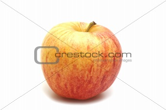 one apple on white background