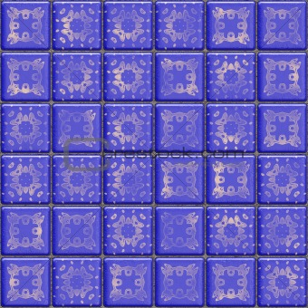 Blue ceramic tile