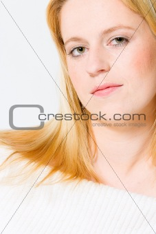 Beautyfull dream girl portrait