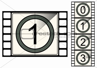 Film strip countdown