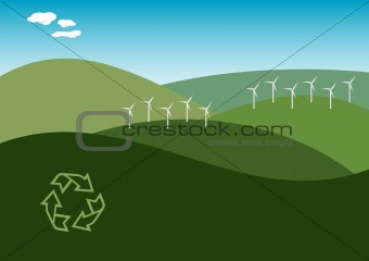 Wind Farm Illustration