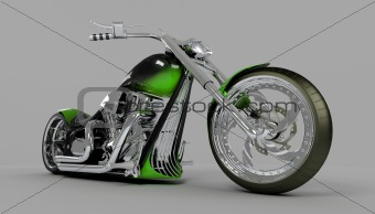 macho custom motorcycle