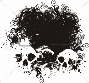 Fear vector skulls illustration