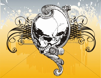 Mystical skull vector illustration