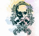 Money skull vector illustration