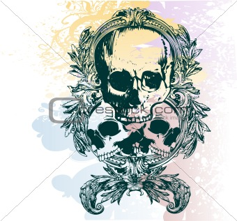 Money skull vector illustration