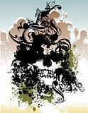 Punk skull vector illustration