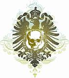 Shield skull vector illustration