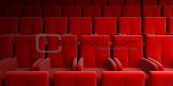 auditorium with red seat