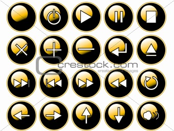 Glossy Yellow Buttons