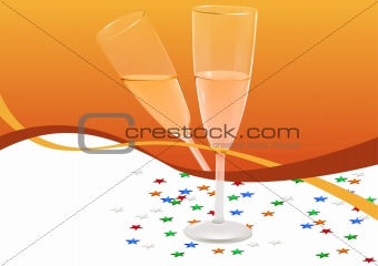 Greetings card - Champagne Glass