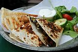 Quesadilla wrap.