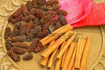 Cinnamon and pinecone