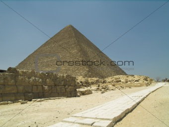 Antient road near Pyramid of Giza