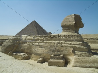 Sphinx and The Greate Pyramid