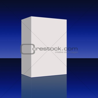 Blank Box in Blue