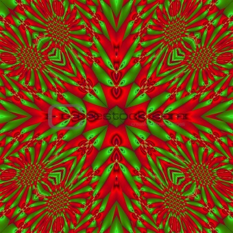 abstract green and red background