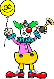 funny clown cartoon illustration