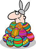 man in easter bunny costume cartoon