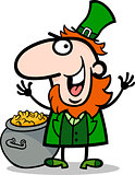 happy Leprechaun cartoon illustration