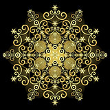 Gold vintage snowflake