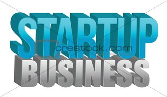 Startup business text