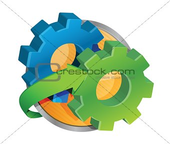 cog wheel button